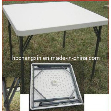 Hot Selling HDPE Blow Mould Square 4ft Foldable Table