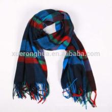 bufanda de lana de alta calidad en cuadros para hombres en invierno