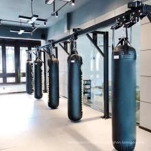 Push Punching bag track rack boxing Club Stadium design Ceiling Mount Hanging Adjustable Boxing Movable Punching bag track rack