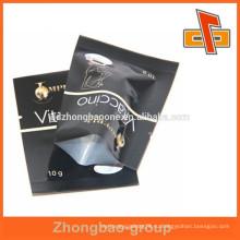 Черный полный цвет пользовательских печати глянцевый 10 г алюминия повторно герметизируемый мешки фольги Китай завод