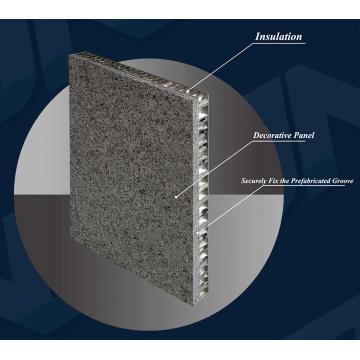 Panel de nido de abeja de aluminio para uso exterior de escaparate