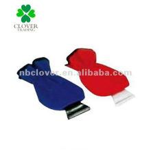 Plastik-Eiskratzer mit Handschuh für Auto / Schneeschaber / Autostrauber