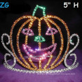 Mignon Couleurs Colorées Smile Pumpkins Pageant Crown, Halloween Pageant Crown