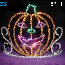 Mignon Couleurs Colorées Smile Pumpkins Pageant Crown, Halloween Pageant Crown