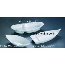 Porcelana barco em forma de bacia