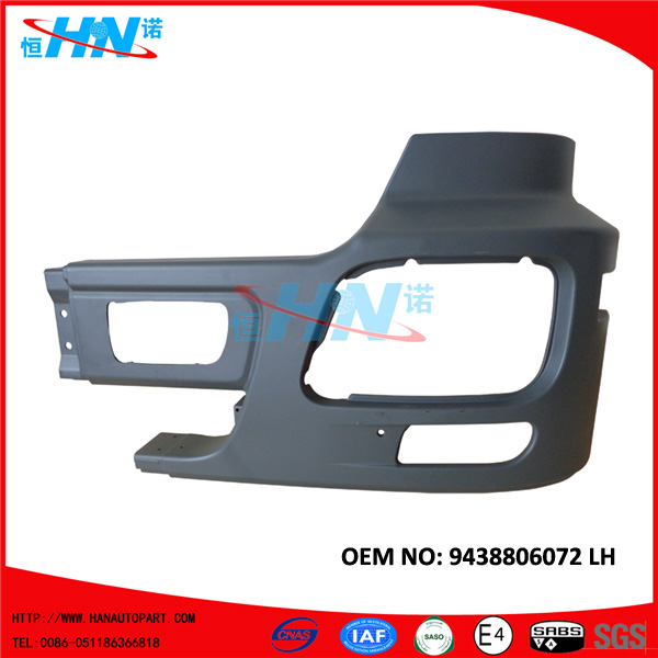 9438806072 Corner Bumper With Holes Heavy Truck Parts For Mercedes Benz