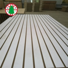 18mm slotted melamine mdf slatwall panel with aluminum tape insert