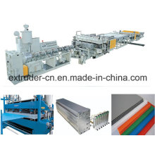 PP/PE/PC/PVC Hollow Cross Section Plate Extrusion Line