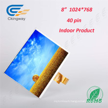 8 Inch 40 Pin Curved Transparent TFT Screen