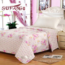 Factory Directly 100-percent cotton printed quilt cheap and fine Summer quilts