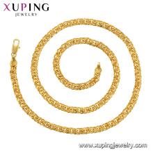 44804 xuping bijoux collier de chaîne de mode fantaisie plaqué or 24k