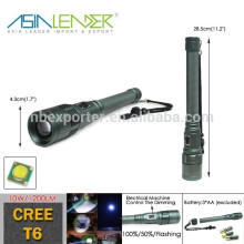 BT-4842 CREE T6 LED (10W 1200Lumen) High Power Automatische Fokussierung Polizei Sicherheit LED Taschenlampe