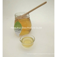 Food Grade Small 375ml 500g Round Flat Jam Glass Jar Honey Jar with Lid