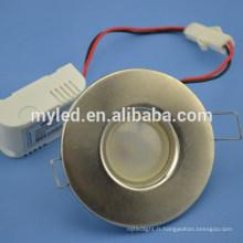 Éclairage de décoration à domicile LED 2,5 pouces Downlight Slim 3w / 5w en option
