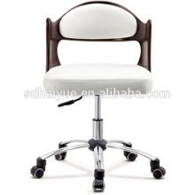 Silla de la computadora de la madera contrachapada de la silla de la oficina del cuero blanco de la venta superior
