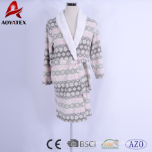 factory cheap price print microfiber coral fleece plush sherpa bathrobe