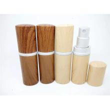 Bouteilles de verre de parfum en bois de nouvelle conception pour parfum, bouteilles de verre cosmétiques