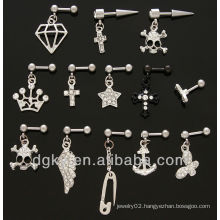 Trendy Style Ear Cartilage Piercing Tragus Ear Barbell