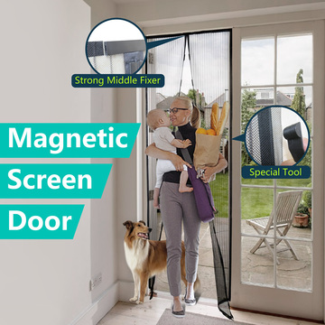 DIY polyester magnetic screen door