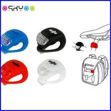 Waterproof Silicone LED Bike Bicycle Safety Light Warning Lamp