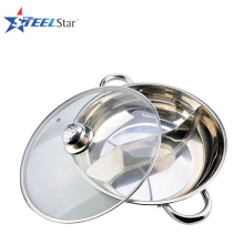 High quality low price hot pot stainless steel hot pot