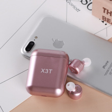 Pink Bluetooth Earbuds with charge bank