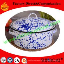 Aufkleber Craft Emaille Stock Pot / Kohlenstoffstahl Emaille Pot