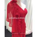 Último vestido de noite Dersign de Dubai Elegant Red One Shoulder Women Formal Wear Vestido de noite de tamanho grande Turkey C5