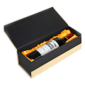 Grey Velvet Hinged Wine Gift Box