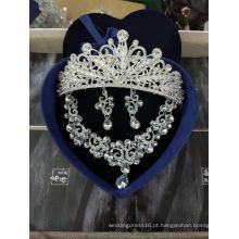 Bridal Crown Necklace Earrings Acessórios