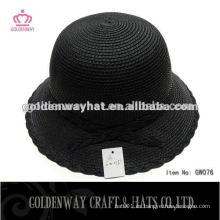 Los sombreros formales de las mujeres del sombrero de paja de la manera del verano de las mujeres del sombrero de la gorrita-