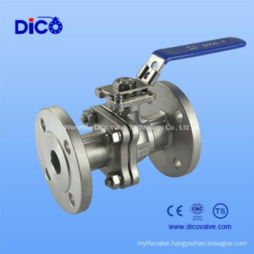 CF8 2PC Mounting Pad Flange Ball Valve with Locked Handle