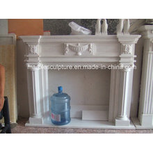 Lowest Price Hand Carved Pure White Marble Fireplace (SY-MF142)