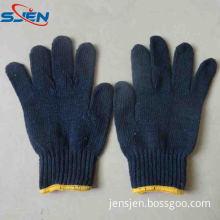 Navy Blue Cotton Gloves Cotton Working Gloves Safety Gloves (SJEN-CT00018)