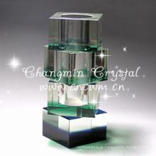 Vaso de cristal barato antigo para peça central do casamento