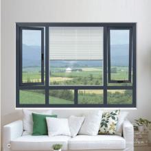 Fenêtre en aluminium de battement de coupure thermique insonorisée de Feelingtop (FT-W70)