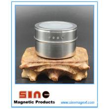 El condimento visual magnético del acero inoxidable puede