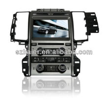 Touch screen Dual zone wince car navigation system for Ford Taurus with GPS/Bluetooth/Radio/SWC/Virtual 6CD/3G /ATV/iPod