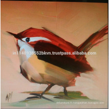 Red Beautiful Bird Painting