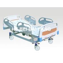 Подвижная двухфункциональная ручная больничная койка с головкой из ABS-кровати