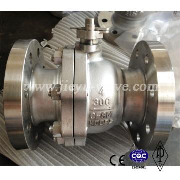 CF8m Aço Inoxidável Quantidade Boa Válvula de Esfera
