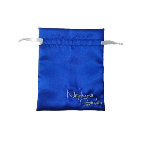 Satin Bag Pouch Blue