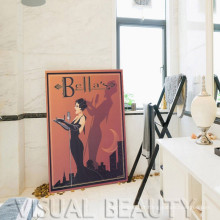 Impressão da arte da lona do cartaz de Bella