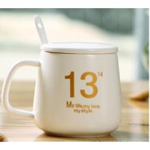 Taza de café de cerámica de la taza del nuevo hueso China de la alta calidad
