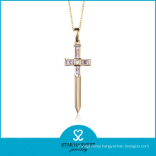 Genuine Silver Semi-Precious Stone Jewelry Opal Cross Pendant (N-0171)