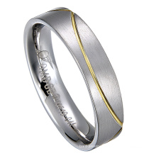 Stainless Steel Ring with Diamond Wedding Band Rings Jewelry