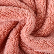 Tissu velours doux et chaud 100% polyester