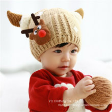 Children Deer Shape Velvet Knit Cap