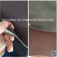 Moltopren Backed Microfiber Suede with Knitted Fabric Bonded
