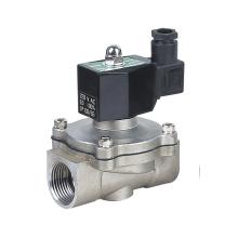 3/4 de polegada 12V 24V DC Direct Acting água quente que trava o ar da válvula de solenóide